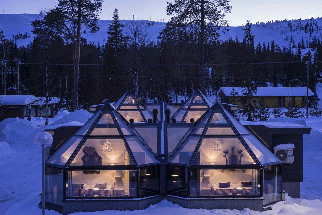 Santas Hotel Aurora Und Panorama Glaszimmer Mit Polarlichtern